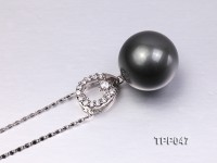 16.8mm Gorgeous Tahitian Pearl Pendant with Sterling Silver