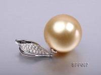 15.2mm Golden South Sea Pearl Pendant with 18k Gold