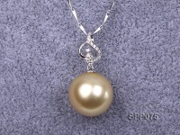 14.7mm Golden South Sea Pearl Pendant with 18k Gold
