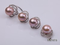 14mm Lavender Freshwater Pearl Pendant, Ring and Earrings Set