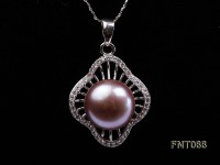 12.5mm Lavender Round Freshwater Pearl Pendant, Ring and Earrings Set