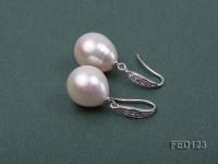 12×13.5mm White Drop-shaped Freshwater Pearl Earring