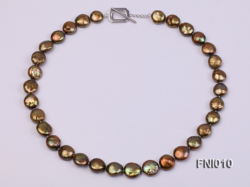Classic 11-13mm Breen Button Freshwater Pearl Necklace