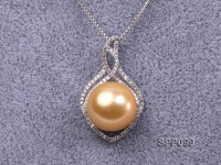 15mm Golden South Sea Pearl Pendant