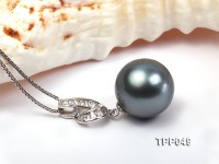 Extraordinary 16mm Black Tahitian Pearl Pendant