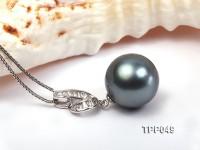 Extraordinary 16mm Black Tahitian Pearl Pendant