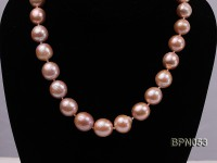 Classic 11.5×12-15.5x17mm Pink Baroque Freshwater Pearl Necklace