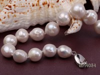 Classic 11.5×13-13.5x15mm White Baroque Freshwater Pearl Necklace