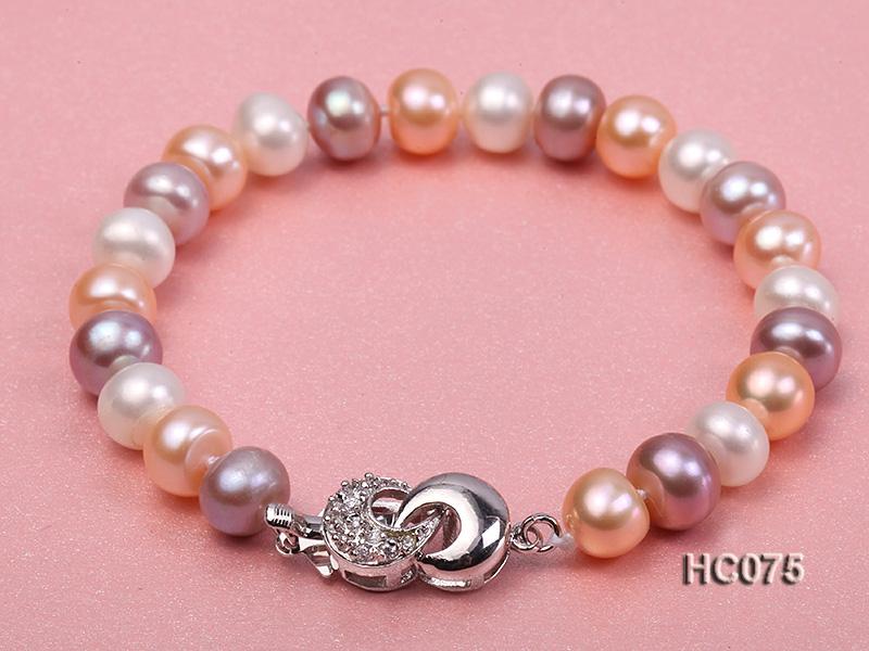 8-9mm flat freshwater pearl bracelet