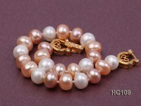 8-9mm multi-color flat freshwater pearl bracelet