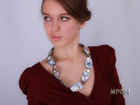 Exotic Baroque Mabe Pearl Necklace