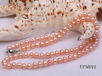 Classic 5-6mm Pink Flat Cultured Freshwater Pearl Necklace