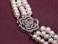 Amazing 3 strand Freshwater Pearl Necklace