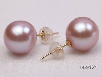 11.5mm Lavender Round Freshwater Pearl Earring