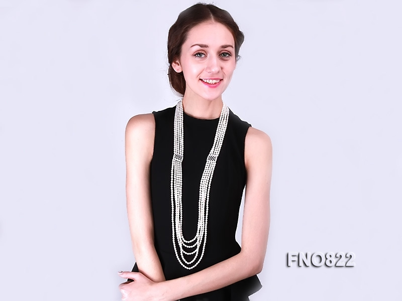 Amazing 5-strand Freshwater Pearl Necklace
