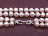 Amazing 9-10mm 2-strand Freshwater Pearl Necklace