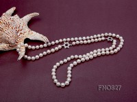 Elegant 9mm freshwater pearl necklace