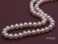 6-7mm AA White Flat Freshwater Pearl Necklace, Bracelet and Stud Earrings Set