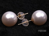 11mm White Round Freshwater Pearl Earring