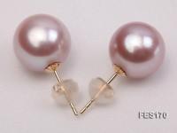 11mm Lavender Round Freshwater Pearl Earring