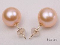 11mm Pink Round Freshwater Pearl Earring