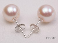 9mm White Round Freshwater Pearl Earring
