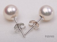 7.5mm White Round Freshwater Pearl Earring