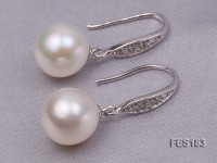 10mm White Round Freshwater Pearl Earring