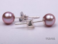 5mm Lavender Round Freshwater Pearl Earring