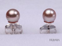 4.5mm Lavender Round Freshwater Pearl Earring