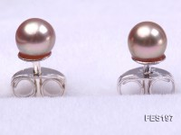 4mm Lavender Round Freshwater Pearl Earring