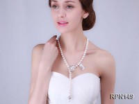 Classic 9-10mm AAA White Round Edison Pearl Necklace