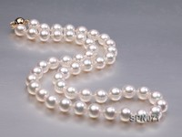 AAA Top Quality 8-8.5mm Akoya Pearl Necklace in 14k Gold