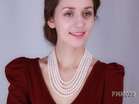 Multi-strand White freshwater pearl necklace