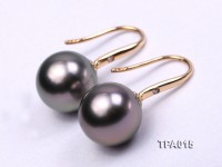 Delicate 10.2mm Tahitian Pearl Earring with 14k Gold