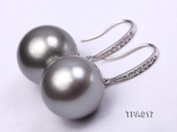 Gorgeous 15mm Tahitian Pearl Earring with 14k Gold