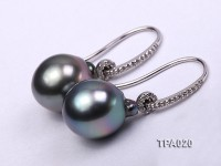 Delicate 11.5x13mm Tahitian Pearl Earring with 14k Gold Post