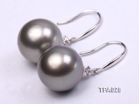 Gorgeous 13mm Tahitian Pearl Earring with 14k Gold