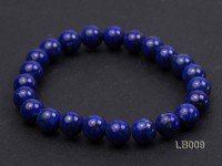 8mm Azure Blue Round Lapis Lazuli Beads Elasticated Bracelet