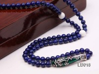 6mm Azure Blue Lapis Lazuli Beads Elasticated Bracelet