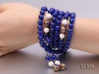 8mm Azure Blue Round Lapis Lazuli Prayer Beads Strand