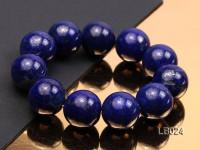 20mm Azure Blue Round Lapis Lazuli Beads Elasticated Bracelet