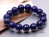 14mm Azure Blue Round Lapis Lazuli Beads Elasticated Bracelet