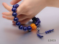 14mm Azure Blue Round Lapis Lazuli Pray Beads Strand