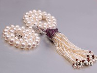 freshwater white 10-11mm pearl necklace