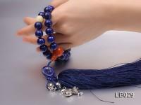 12mm Azure Blue Round Lapis Lazuli Pray Beads Strand