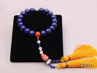 20mm Azure Blue Round Lapis Lazuli Pray Beads Strand