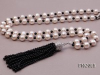10-11mm Round White Freshwater Pearl Necklace