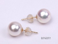 9-9.5mm AAA top quality akoya pearl earrings in 14k gold