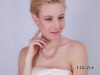 2 strand lavender freshwater pearl necklace